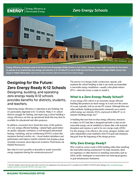Thumbnail of the Designing for the Future: Zero Energy Ready K-12 Schools Fact Sheet